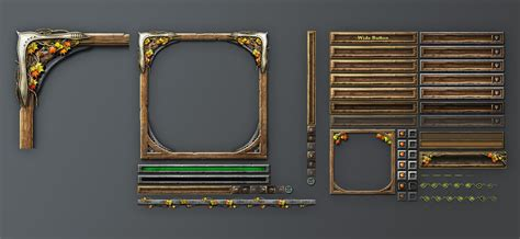 design game gui ui design exle for a fantasy game just the basics of