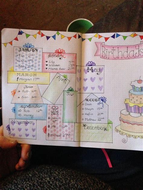 resultat de recherche dimages pour page anniversaire bullet journal bullet journal