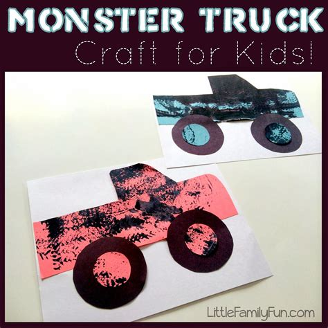 kids monster truck videos monster truck craft so fun for kids and very simple