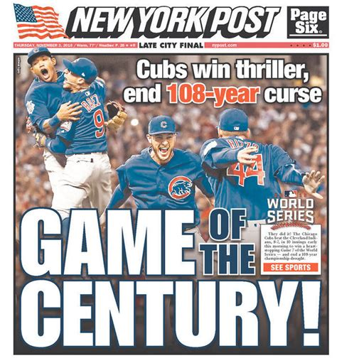 new year for cubs the most memorable newspaper covers from the chicago cubs