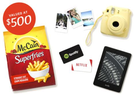 Free Prizes Giveaways - free mccain superfries prize pack giveaway
