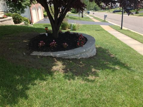 Retaining Wall Custom Flower Bed In Newark Delaware Retaining Wall Garden Bed