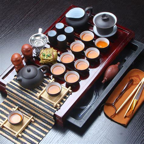 Sale Solid Wood Tea Tray Kungfu Tea aliexpress buy sale yixing ceramic kung fu tea set solid wood tea tray teapot 27