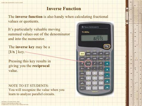 calculator inverse using the scientific calculator