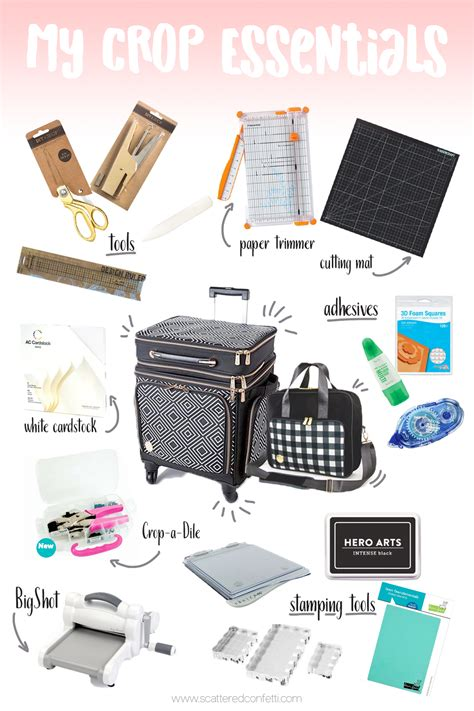 Essential Scrapbooking Tools by Scattered Confetti My Scrapbooking Crop Essentials