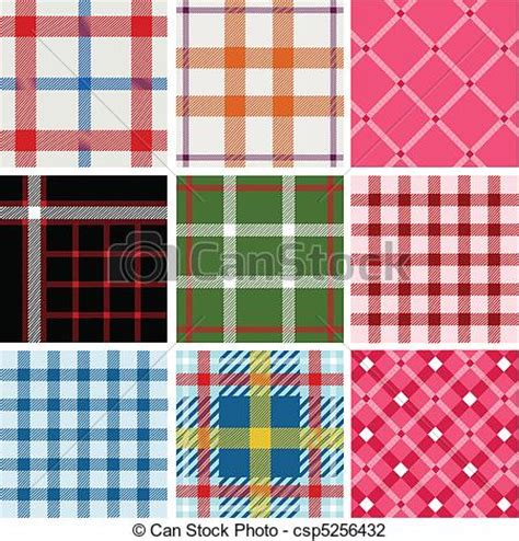 vector plaid pattern free vector illustration of set of plaid patterns fabrics