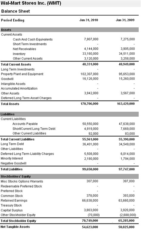 Financial Balance Sheet Template by 11 Exle Financial Statements Financial Statement Form
