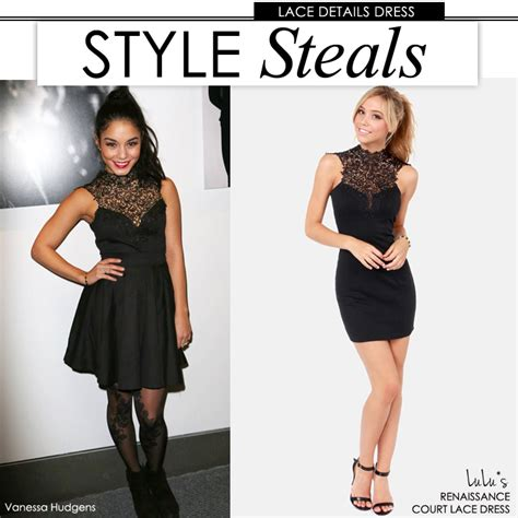 8 High Fashion Steals For Those With Serious Savings by Style Steals Hudgens Black Lace Dress Lulus