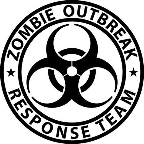 Outbreak Team outbreak response team biohazard vinyl sticker