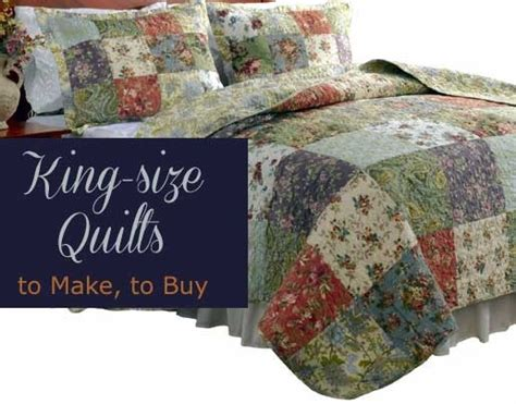 buy king size quilts for sale or diy