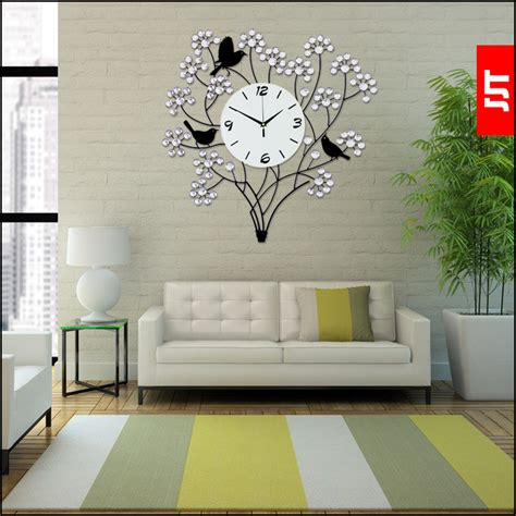 decoration modern wall clock art home decor large diy 3d luminousness large luxury diamond modern wall clock