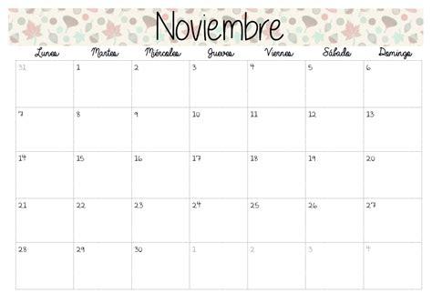 Calendario Noviembre Diciembre 2017 Handmade Calendarios 2016