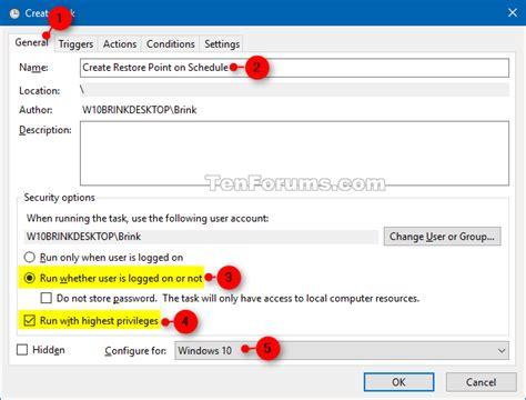 tutorial restore windows 10 restore point automatically create on schedule in