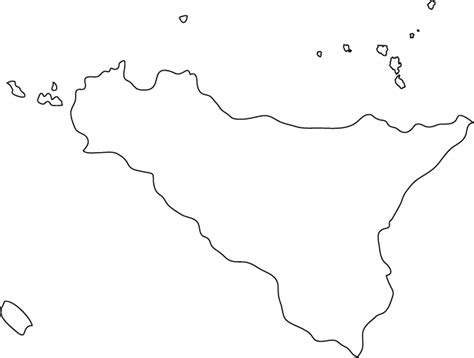 sicily outline map