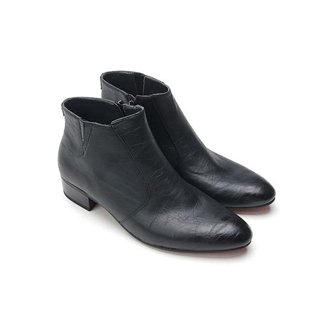 high ankle boots for mens mens pointed toe high heels ankle boots