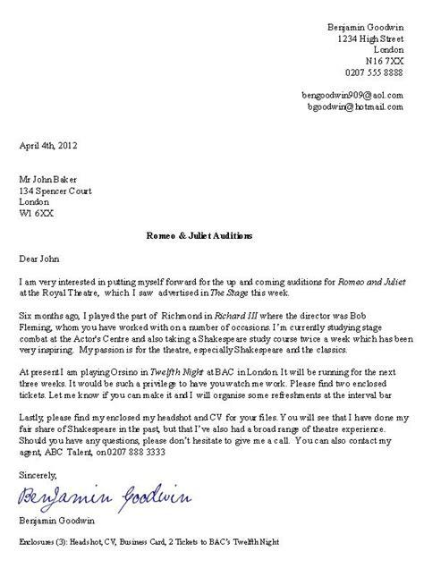 actor cover letter sle http jobresumesle com 504