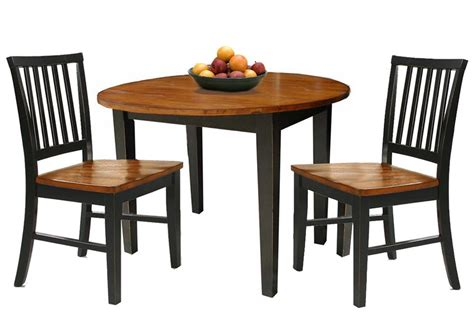 two chair dining table set 3 dining set with two drop leaves by intercon wolf