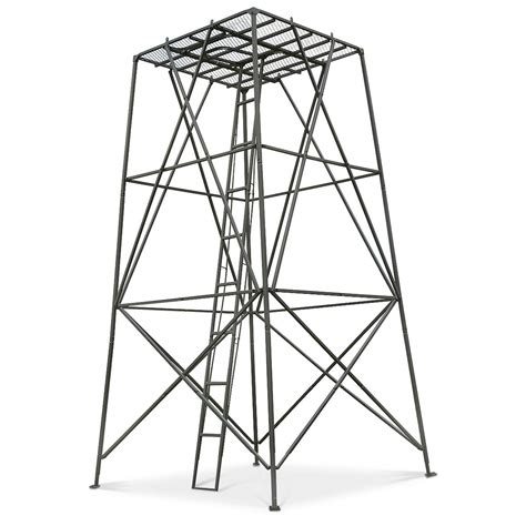 Bow Hunting Blind Plans Guide Gear 10 Elevated Hunting Platform 203505 Tower