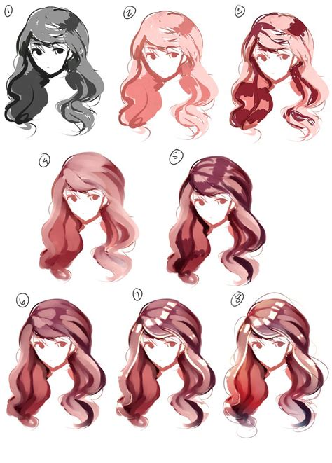 how to shade hair hair paint tutorial by broyam on deviantart