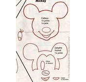 Moldes Para Todo  LLavero Mickey