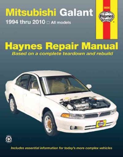 car engine manuals 1994 mitsubishi galant user handbook mitsubishi galant 1994 2010 haynes service repair manual workshop car manuals repair books