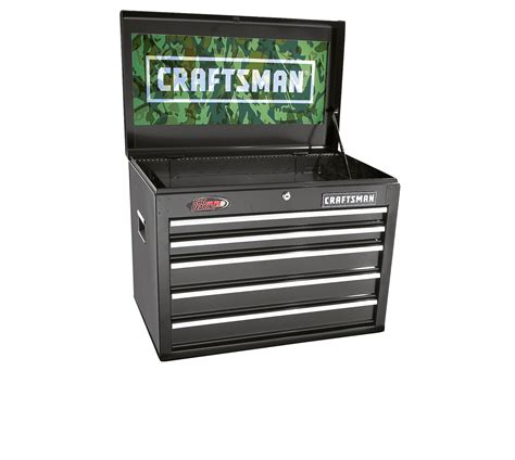 craftsman black 5 drawer tool chest craftsman 26 in 5 drawer ball bearing chest camouflage
