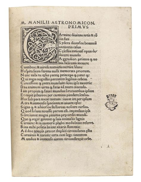 letters to the editor manilius fl early 1st century astronomicon 1473