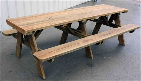 picnic table bench plans 6ft redwood picnic table and 4 benches soapp culture