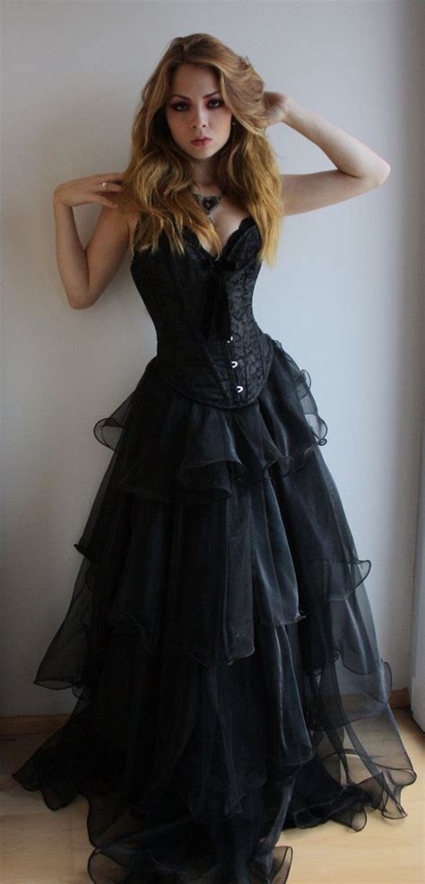 black prom dresses corset corset gown dressed up girl