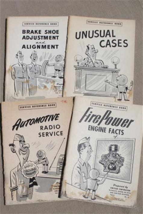 Vintage Chrysler Service Reference Books Lot Of 4 Early