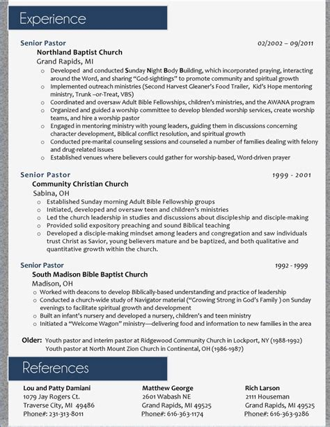 pastoral resume exles 7 best images about resume s on shops the