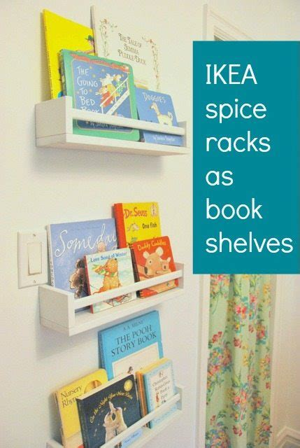how to use ikea spice racks for books or the easiest diy