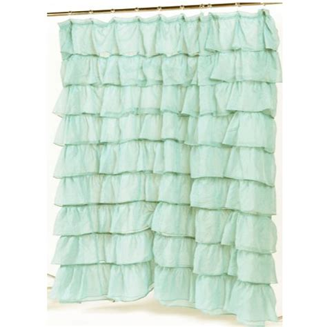 how much fabric to make a shower curtain spa blue carmen ruffled bouffant ruffled fabric shower