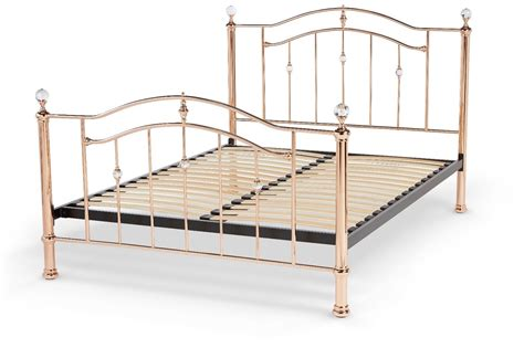 metal king bed frame rose gold vintage metal bed frame crystal finials