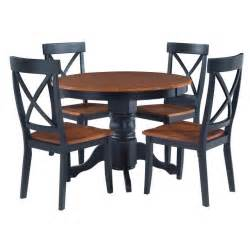 5 Chair Dining Table Black Cottage Oak 5 Dining Furniture Set