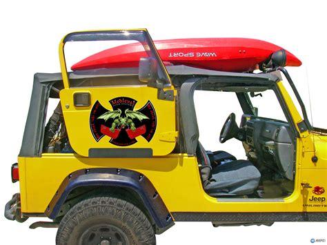 jeep wrangler 2 door storage door rack for all soft top 2 door jeeps