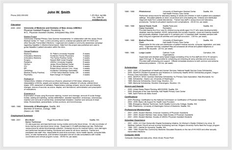 Professional Resume Exles 2016 by 21061 Physician Assistant Resume Template Sle Of A
