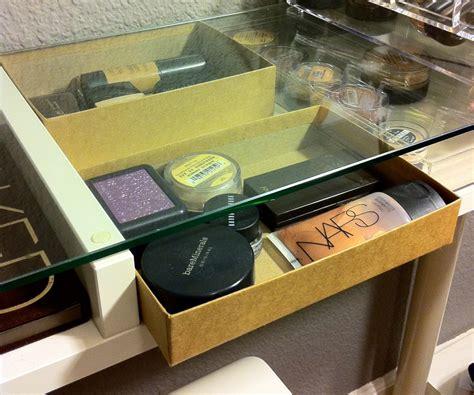 makeup vanity organization ms tapioca recycling birchboxes ms tapioca