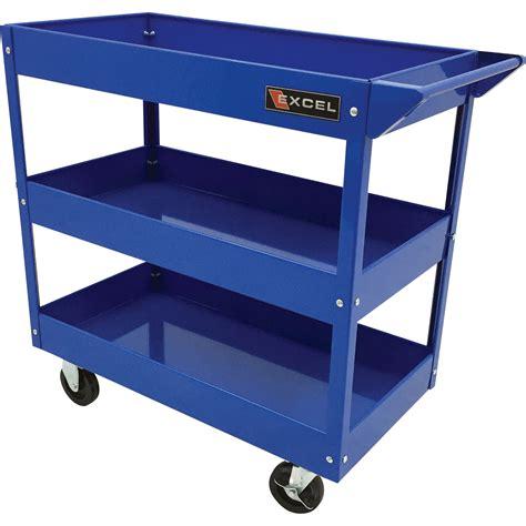 rollen wagen excel rolling tool cart 300 lb capacity blue model