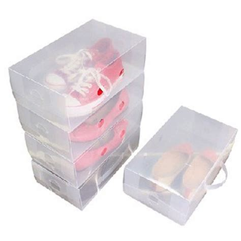 shoe containers storage 10 mens stackable plastic clear transparent shoe
