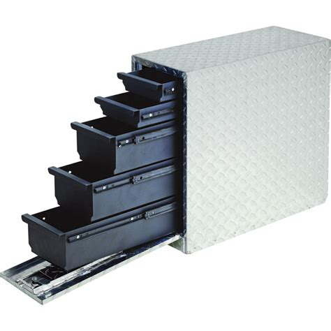 wel bilt locking sliding drawer aluminum truck box 5