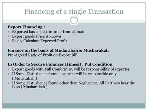 Musharakah Letter Of Credit mudarbah musharkah