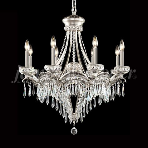 James Moder 94348pw22 Dynasty Cast Brass Crystal Pewter Moder Chandeliers