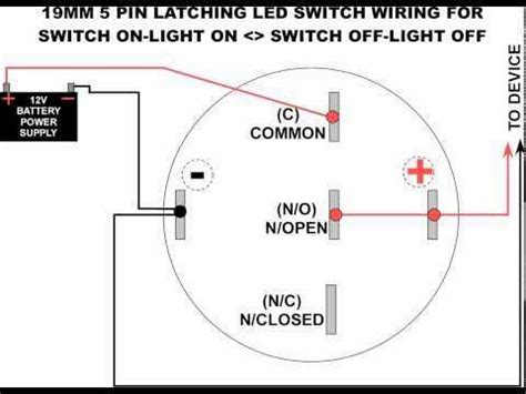 5 pole led push button wiring diagram
