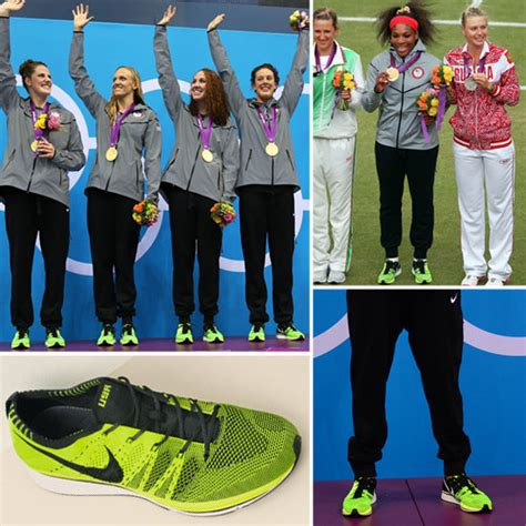 Nike Flyknit Racer Green Neon get the look team usa s neon green nikes