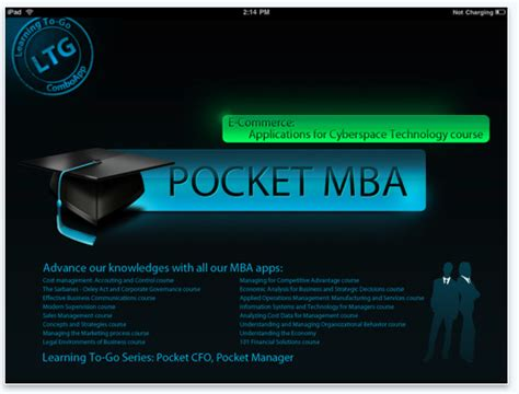 Pocket Mba Itunes App by Daily App Digest 08 18 10 Theappwhisperer