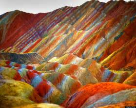 colorful mountains rainbow mountains in china s danxia landform geological