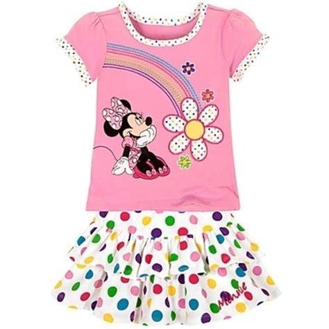 Pajamas Rainbow Tsum Cw disney minnie mouse rainbow shirt skirt set disney