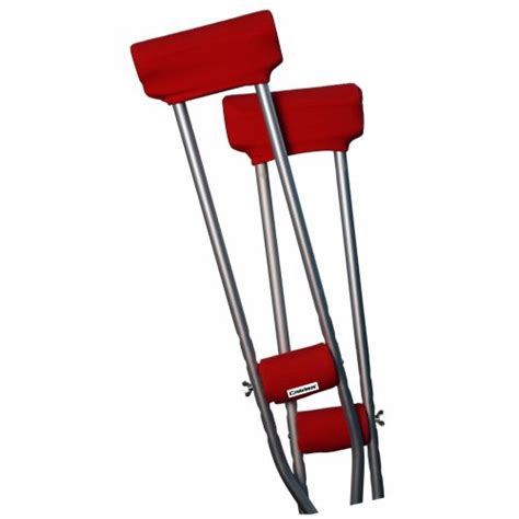 crutches comfortable padding crutcheze atomic red underarm crutch pad and hand grip