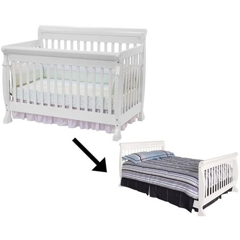 Crib Converts To Bed Davinci Kalani 4 In 1 Convertible Crib With Bed Rails In White M5501w M4799w Pkg